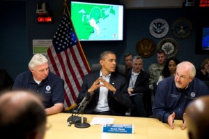 President Obama at FEMA; Hurricane Sandy