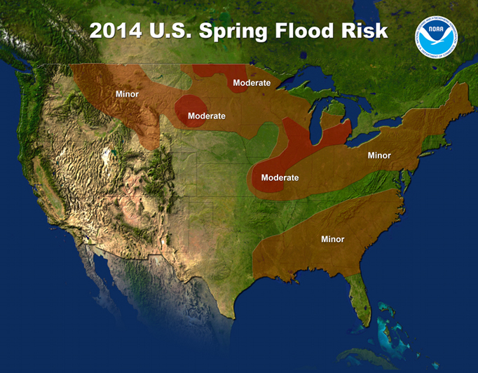 2014 U.S. Spring Flood Risk Map