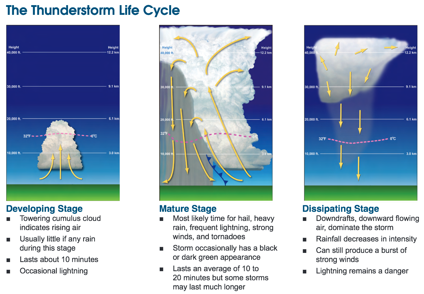 The Life Cycle of a Thunderstorm