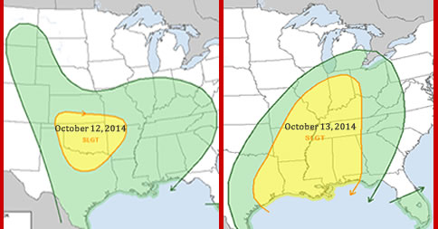 U.S. Severe Weather Threat for Oct 12 & 13