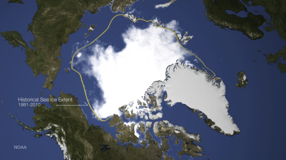 Median Artic Sea Ice change 1981-2014 Image