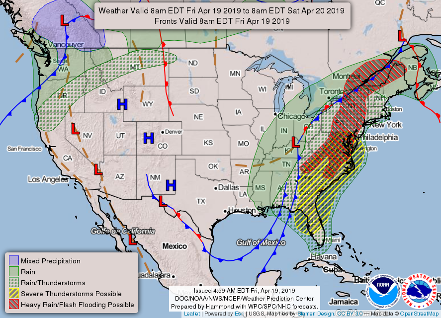 iAlert.com National Forecast Map April 4, 2019 AM