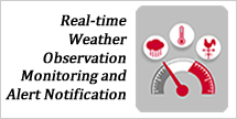 ialert real-time weather-observation monitoring and alert notification service