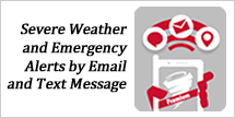 ialert severe weather and emergency alerts by text message and email