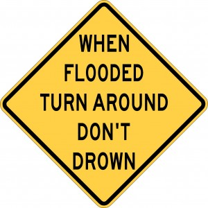 Turn around don't drown logo