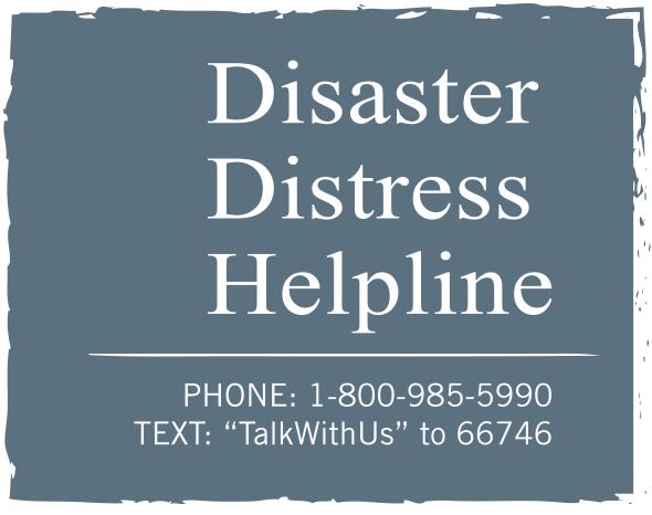 Disaster Distress Helpline Image