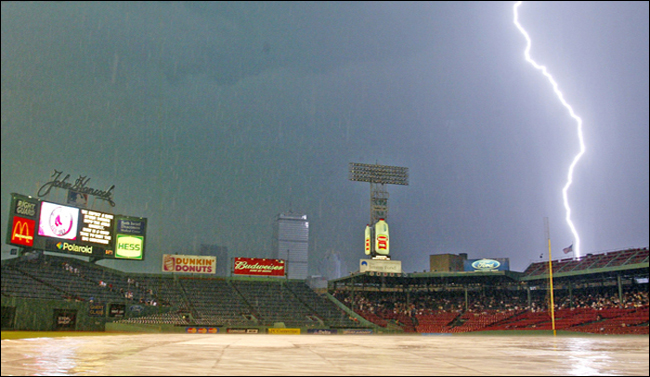 Lightning strike at Fenway Park