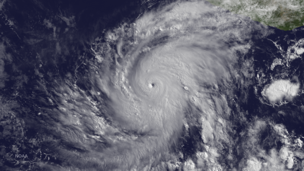 June 3 2015, Hurricane Blanca Strengthens, Winds to 130 MPH