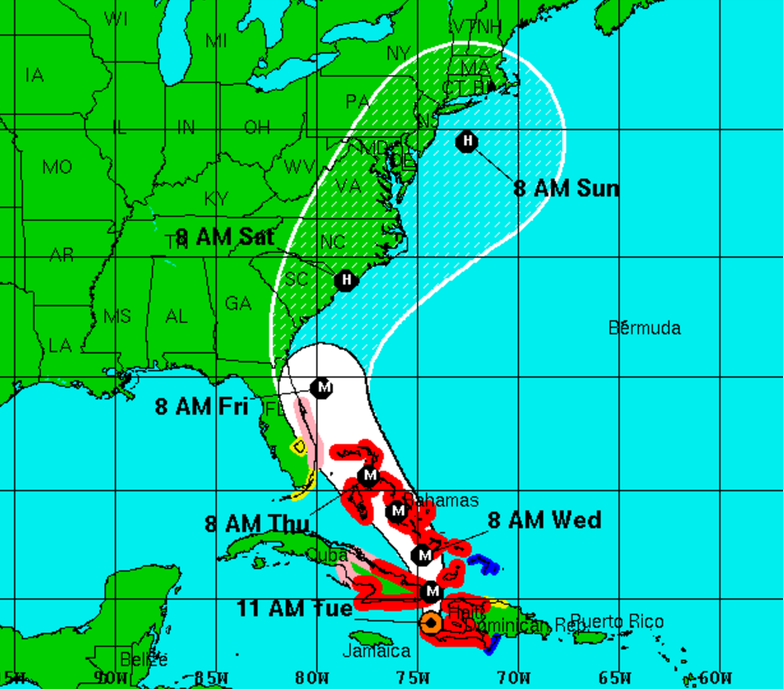 hurricane Matthew update 11am October 4, 2016
