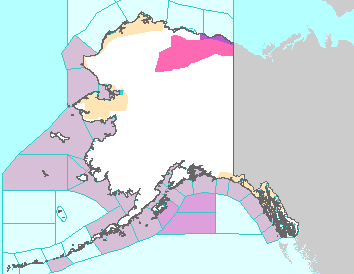 Active Weather and Emergency Alert Map for Alaska
