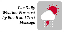 ialert daily weather forecast by email and text message service